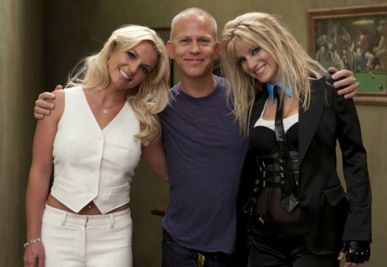 Britney Spears, Ryan Murphy and Heather Morris