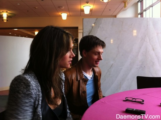 Missy Peregrym and Gregory Smith