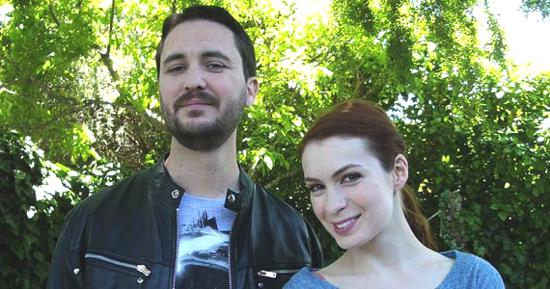 Felicia Day and Wil Wheaton Eureka Guest Stars