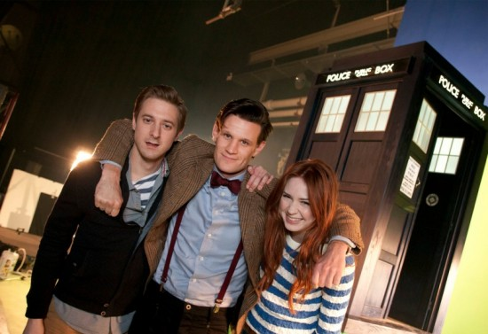 Doctor Who Cast on Set