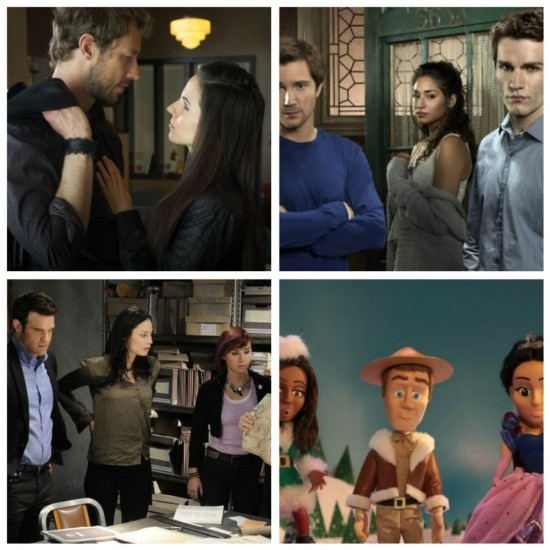 Bo and Dyson - Lost Girl, Josh, Sally and Aidan - Being Human, Pete, Myka and Claudia - Warehouse 13, Alison, Carter and Jo - Eureka