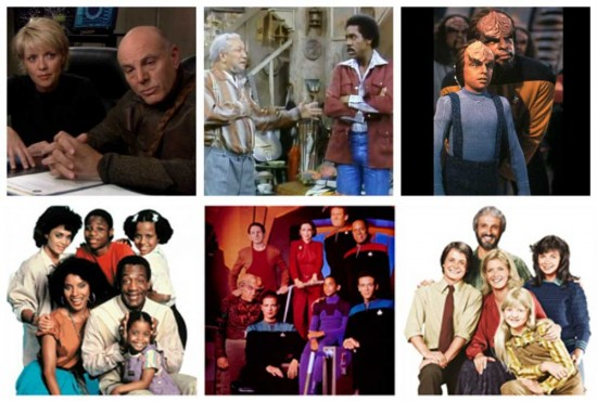 Stargate SG-1, Sanford and Son, Star Trek: The Next Generation, The Cosby Show, Star Trek: Deep space 9, Family Ties
