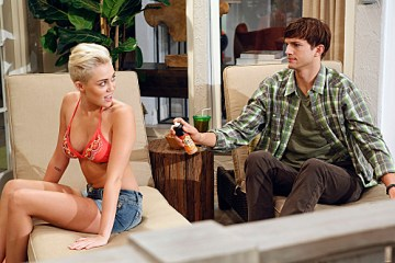 Miley Cyrus on Two and a Half Men Season 10