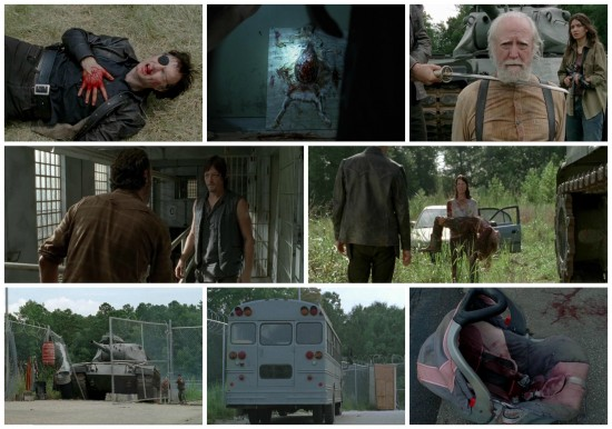 The Governor, Hershel, Rick, Daryl, Lilly, Meghan - The Walking Dead
