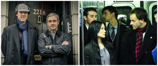 Holmes and Watson in Elementary and Sherlock