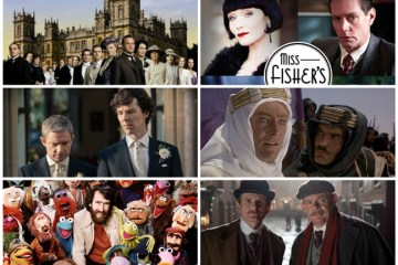Downton Abbey Cast, Phryne and Jack - Miss Fisher's Murder Mysteries, Holmes and Watson - Sherlock, Lawrence and Sherif - Lawrence of Arabia, Jim Henson and his creations, Arthur and Charles - Arthur and George