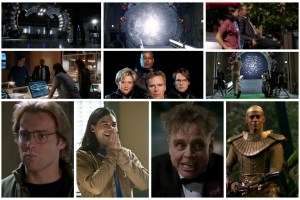 Barry, Cisco, Joe, Caitlin, Daniel, Sam, Jack, Teal'c, Trickster, Apophis - The Flash and Stargate SG-1