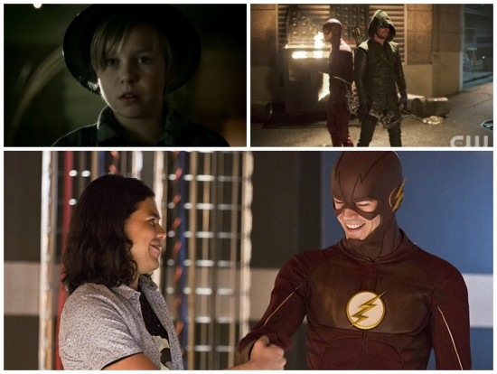 Cisco, Barry, Oliver, young Hunter - The Flash