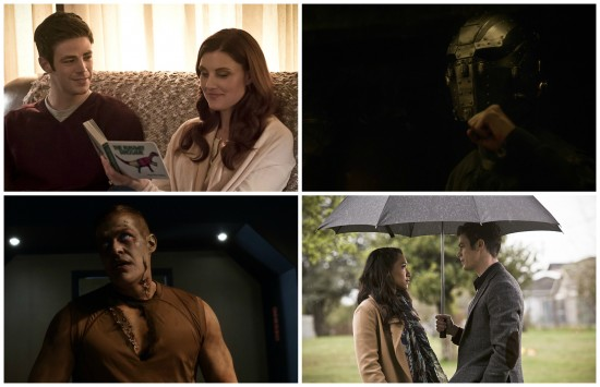 Barry, Nora, Iris, Zombie Girder, Man in Mask - The Flash