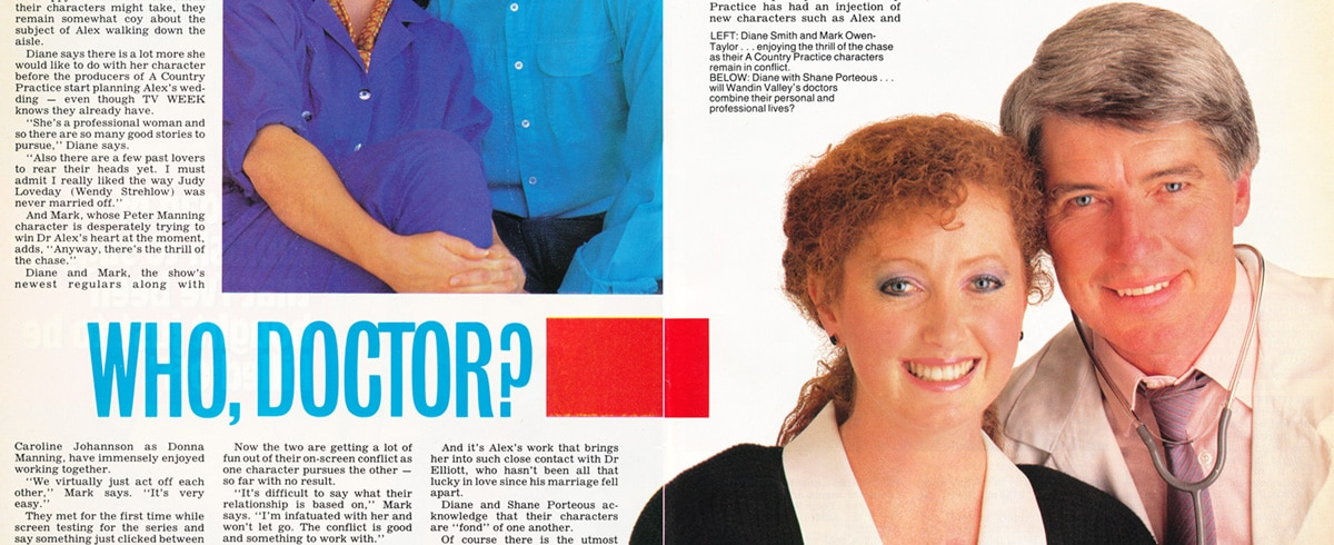 "TV Week: ""Who, Doctor?"" A Country Practice 15th November 1986"