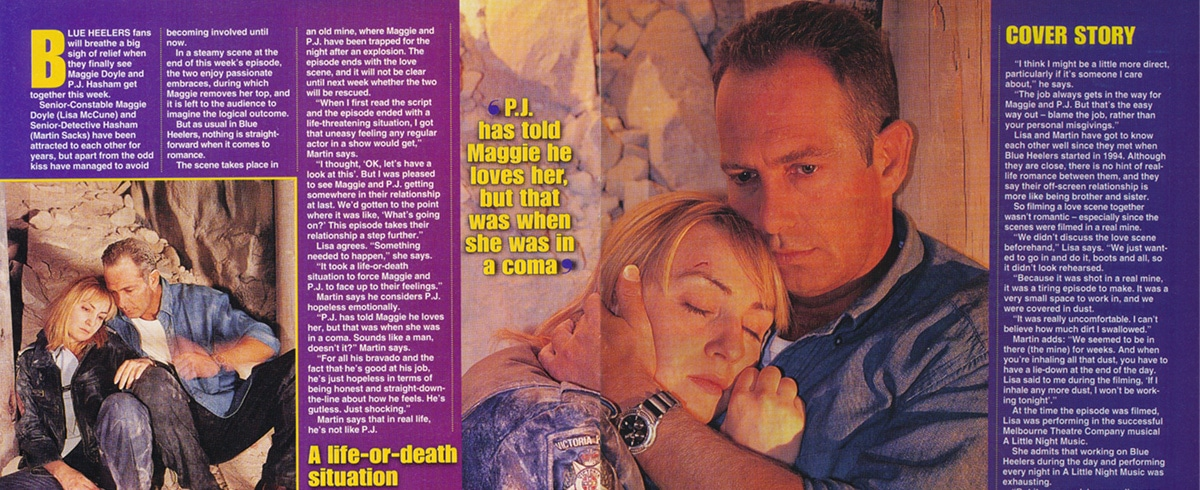 """TV Week: """"Love and other catastrophes"""" Blue Heelers 26th April 1997"""