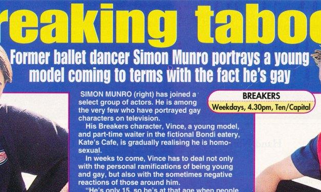 """TV Week: """"Breaking taboos"""" Breakers 14th March 1998"""