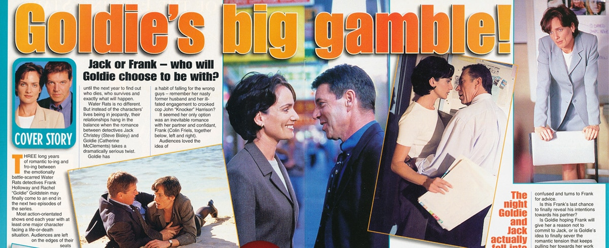 "TV Week: ""Goldie's big gamble!"" Water Rats 22nd August 1998"