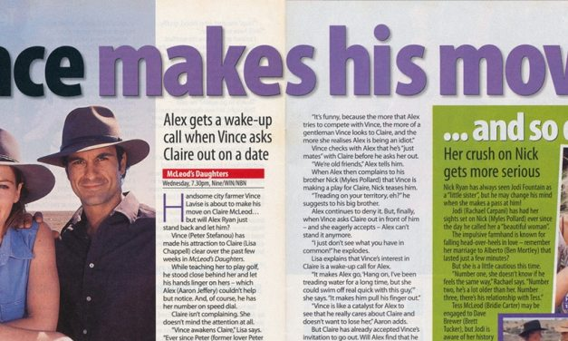 "TV Week: ""Vince makes his move…"" McLeods Daughters 30th August 2003"