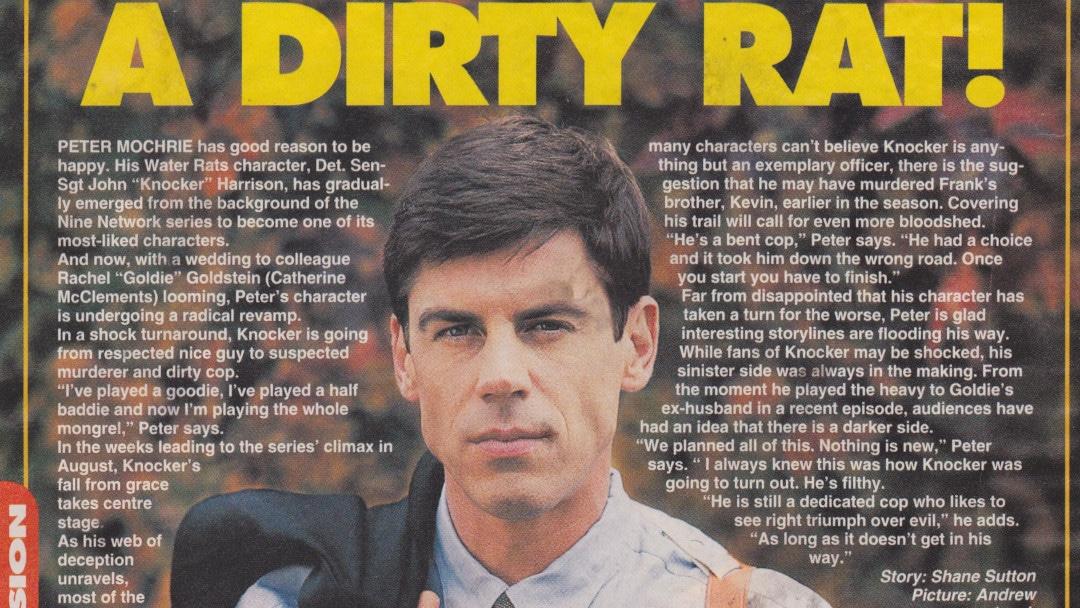 "TV Week: ""Knocker's a Dirty Rat!"" Water Rats 1996"