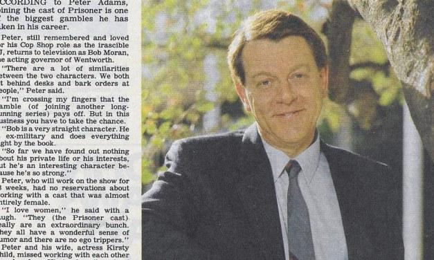 "TV Week: ""Peter cops a new beat"" Prisoner 5th October 1985"