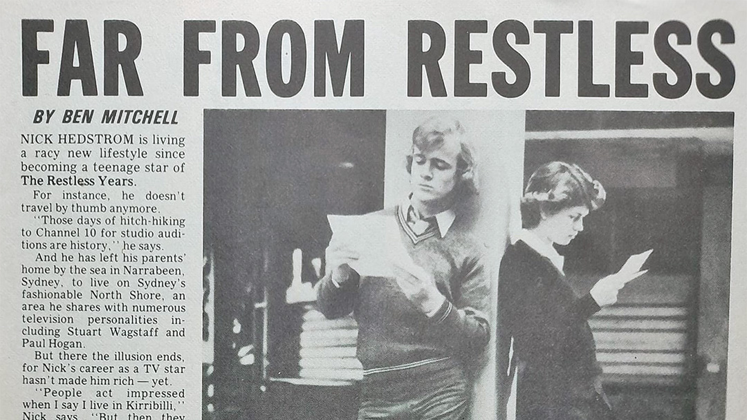 """TV Week: """"Far From Restless"""" The Restless Years 15th April 1978"""