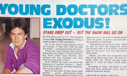 """TV Week: """"Young Doctors Exodus!"""" The Young Doctors 9th January 1982"""