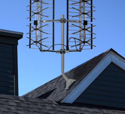 installation antenne tv exterieure sur toit
