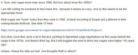 Are real wages lower than 40 years ago