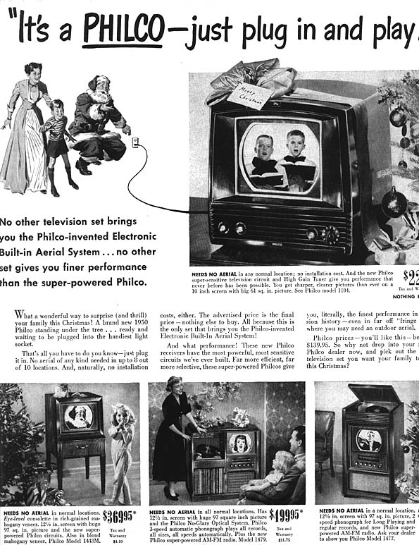 Image result for 1950s television set price
