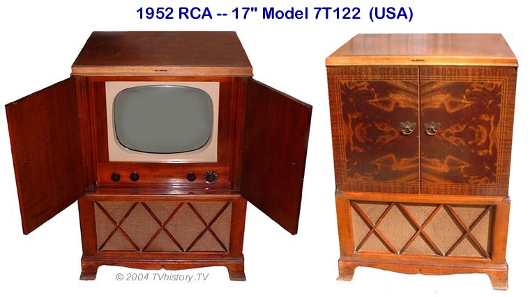 Image result for 1953 RCA television in cabinet