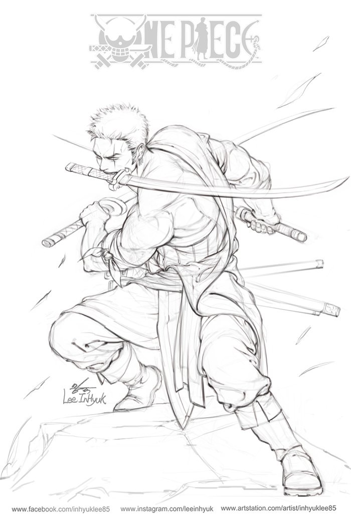 Dessins De InHyuk Lee One Piece Fullmetal Alchemist Batman