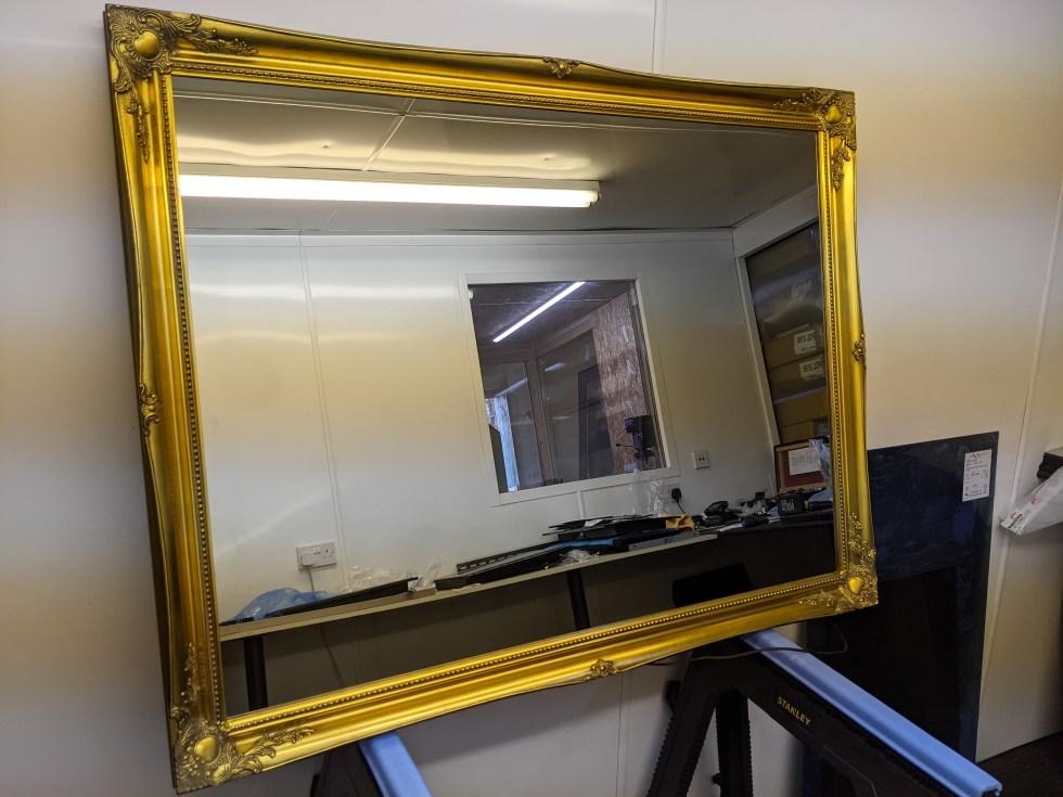 50 inch gold swept Mirror TV