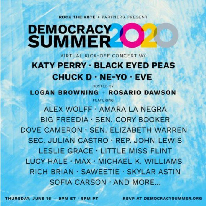 Katy Perry, Black Eyed Peas to Headline Rock the Vote's 'Democracy ...