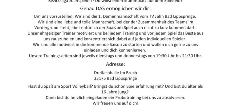 Volleyball: Wir suchen dich!