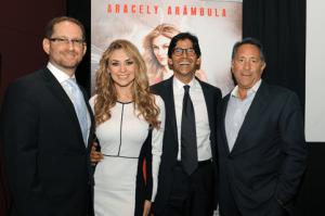 Joshua Mintz, Aracely Arambula, Marcos Santana y Joe Uva, Chairman, Hispanic Enterprises & Content, NBCUniversal