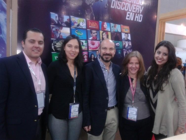 Arnoldo Adame Rivera,Ana Orozco Vaca, Jesus Grovas, Karla Ochoa y Alejandra Reynes de Discovery Channel Latin America y U.S Hispanic.