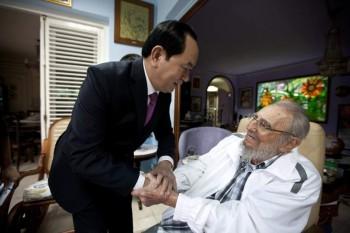 Fidel Castro and Tran Dai Quang President of Vietnam