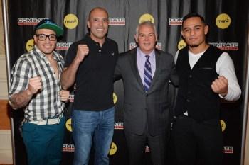 CEO, Campbell McLaren con Royce Gracie and dos luchadores de la serie.