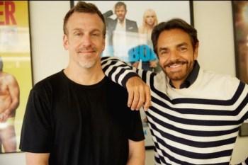 El productor Ben Odell y el actor y productor Eugenio Derbez