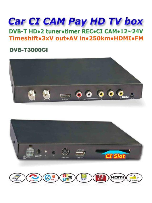 DVB-T3000CI In car MPEG2-4 CAM CI Module DVB-T DTV Europe TNT TDT CA 6 -