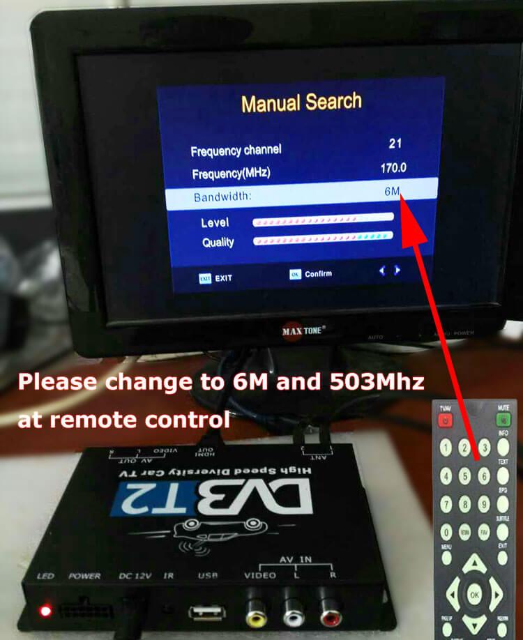 COFDM Wireless Transmitter 6M bandwidth