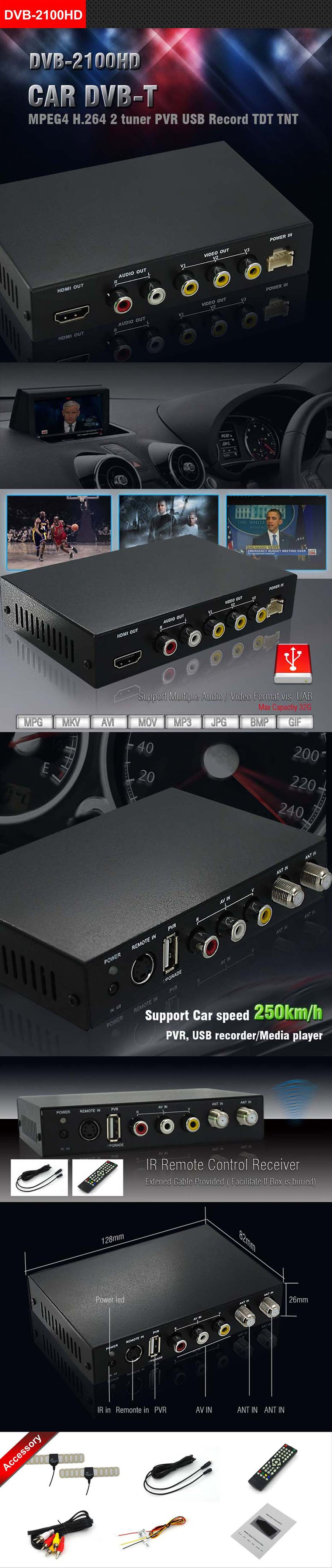 car dvb-t tdt tnt receiver