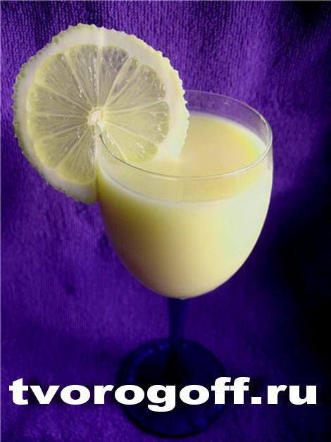 Напиток из молока «Лимонно-апельсиновый», дома