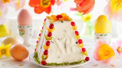 Домашняя пасха из творога. Правильный десерт с заварным кремом.