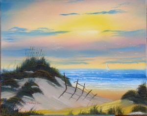 Peaceful Sunset art lessons at tvpainter.com
