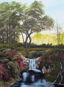 garden-waterfall-painting