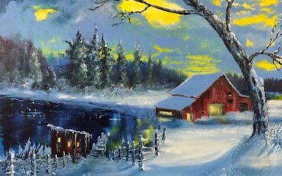 Winter's Red Barn II