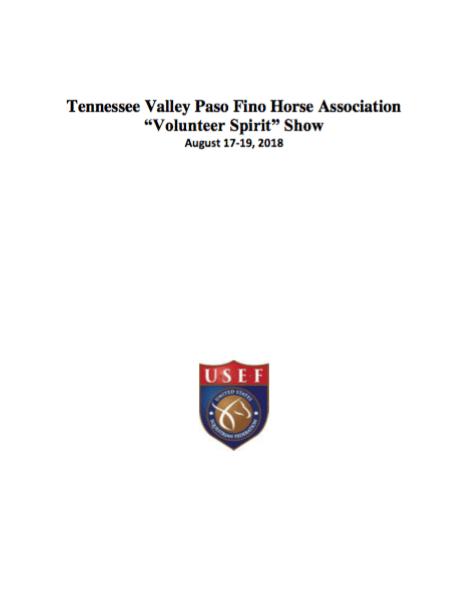 Volunteer Spirit Show 2018   Tennessee Valley