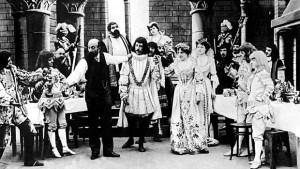 Méliès sur le tournage de Barbe-Bleue (1902)