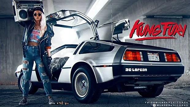 Une DeLorean comme dans le film Retour vers le futur
