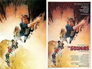 L'évolution de l'affiche de Drew Struzan pour The Goonies (1985).