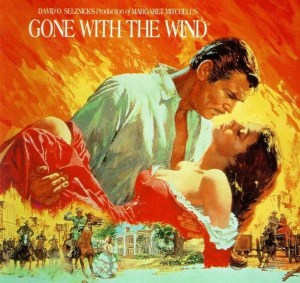 Affiche célèbre de Howard Terpning pour Gone with the Wind (1939).