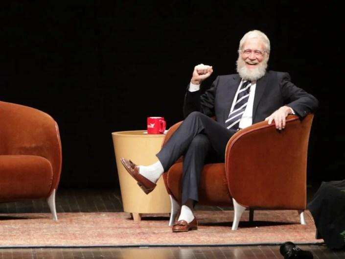 David Letterman a parlé au Emens Auditorium du campus de la Ball State University, ;r 30 novembre dernier