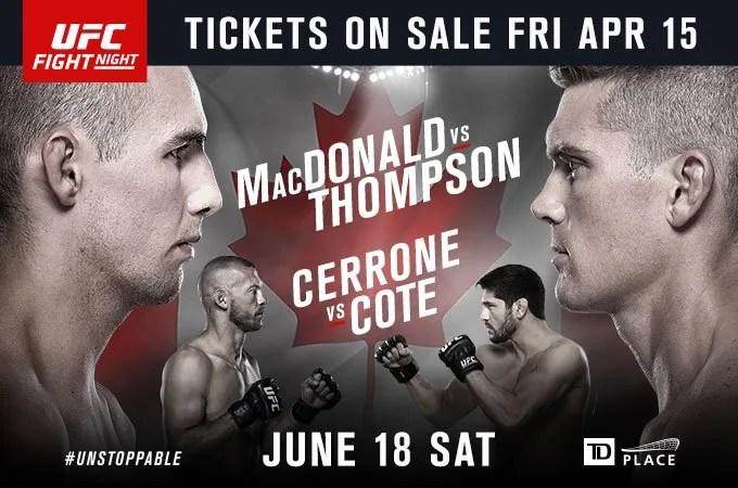 UFC Fight Night: MacDonald vs. Thompson